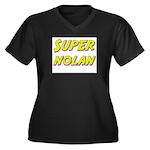 Super nolan Women's Plus Size V-Neck Dark T-Shirt