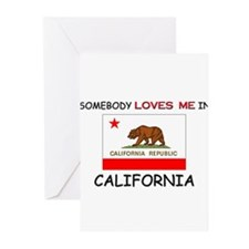 Somebody Loves Me In CALIFORNIA Greeting Cards (Pk