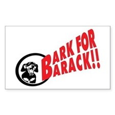 Dachshund Barking for Barack Obama Decal
