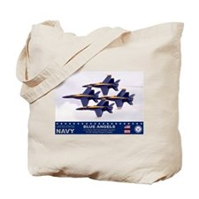 Blue Angel's F-18 Hornet Tote Bag