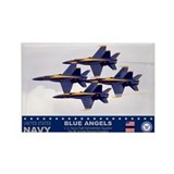 Blue Angel's F-18 Hornet Rectangle Magnet (100 pac