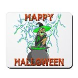 Witch with Lightning Mousepad