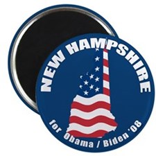 "New Hampshire for Obama 2.25"" Magnet"