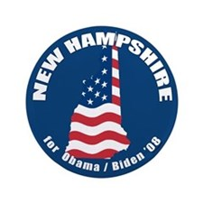 "New Hampshire for Obama 3.5"" Button"