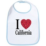 I Love California Bib