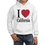 I Love California Hooded Sweatshirt