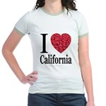 I Love California Jr. Ringer T-Shirt