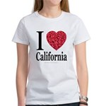I Love California Women's T-Shirt
