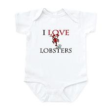 I Love Lobsters Infant Bodysuit