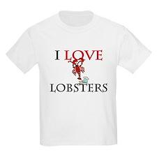 I Love Lobsters Kids Light T-Shirt