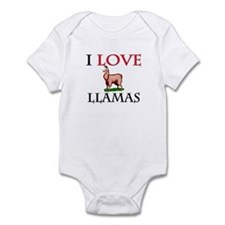 I Love Llamas Infant Bodysuit