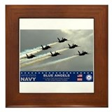 Blue Angel's F-18 Hornet Framed Tile