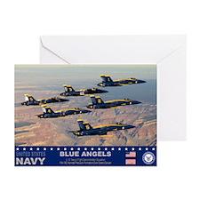 Blue Angel's F-18 Hornet Greeting Cards (Pk of 10)