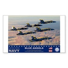 Blue Angel's F-18 Hornet Rectangle Sticker 10 pk)