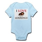 I Love Lemmings Infant Bodysuit