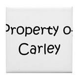 Funny Carley Tile Coaster