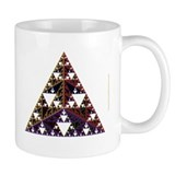 Sierpinski Pyramid Fractal Mug