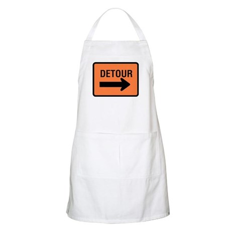 Detour Sign BBQ Apron