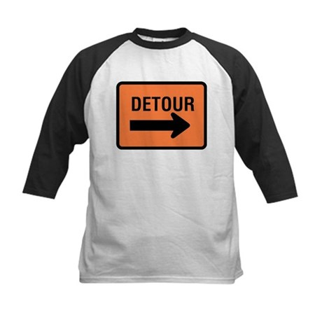 Detour Sign Kids Baseball Jersey