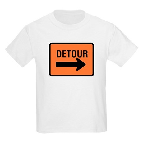 Detour Sign Kids T-Shirt