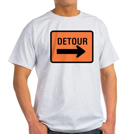 Detour Sign Ash Grey T-Shirt
