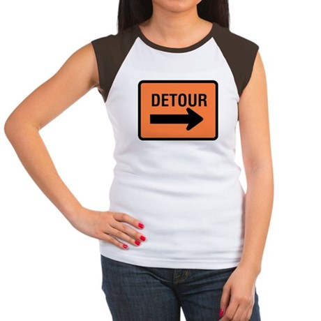 Detour Sign Women's Cap Sleeve T-Shirt