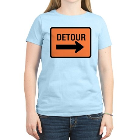 Detour Sign Women's Pink T-Shirt