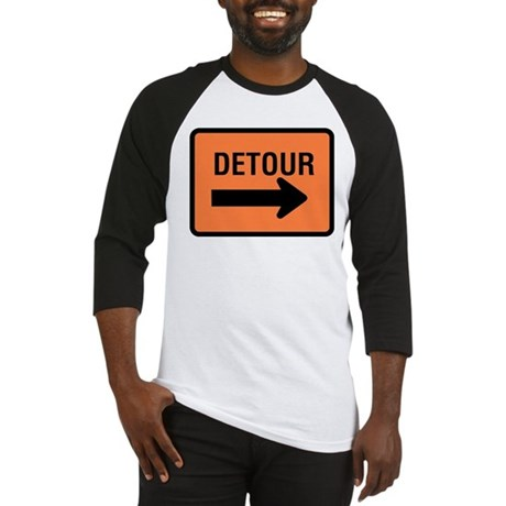 Detour Sign Baseball Jersey