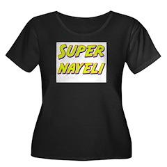 Super nayeli Women's Plus Size Scoop Neck Dark T-S