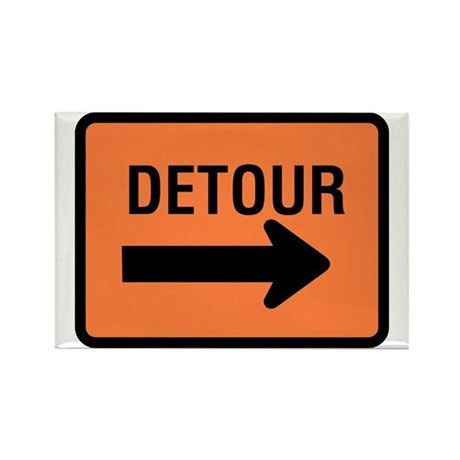 Detour Sign - Rectangle Magnet