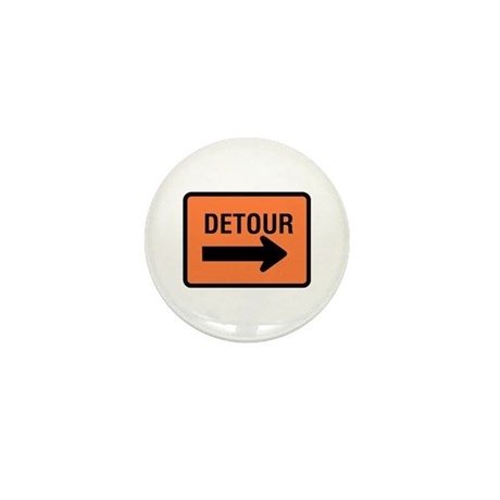 Detour Sign - Mini Button (10 pack)