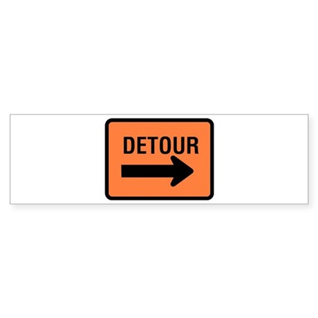 Detour Sign - Bumper Sticker