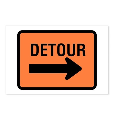 Detour Sign - Postcards (Package of 8)