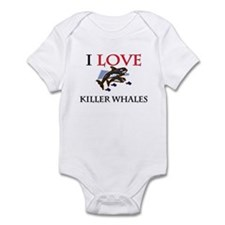 I Love Killer Whales Infant Bodysuit