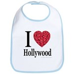 I Love Hollywood Bib