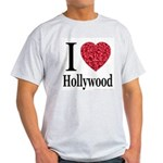 I Love Hollywood Ash Grey T-Shirt