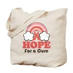 Pink Ribbon Rainbow Hope Tote Bag
