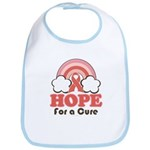 Pink Ribbon Rainbow Hope Bib