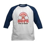 Pink Ribbon Rainbow Hope Kids Baseball Jersey
