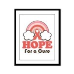 Pink Ribbon Rainbow Hope Framed Panel Print