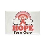 Pink Ribbon Rainbow Hope Rectangle Magnet (100 pac
