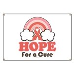 Pink Ribbon Rainbow Hope Banner