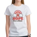 Pink Ribbon Rainbow Hope Women's T-Shirt