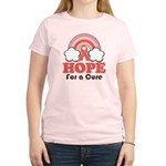 Pink Ribbon Rainbow Hope Women's Light T-Shirt