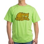 Cute Kitten Green T-Shirt