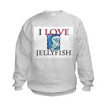 I Love Jellyfish Kids Sweatshirt