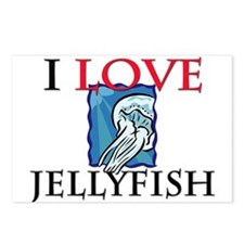 I Love Jellyfish Postcards (Package of 8)