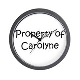 Funny Carolyn Wall Clock