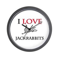 I Love Jackrabbits Wall Clock