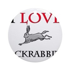 I Love Jackrabbits Ornament (Round)